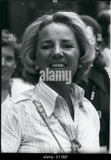 08, 1976 - Ethel Kennedy. - Stockbild