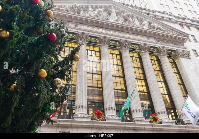New York Stock Exchange Christmas Stock Photos  New York Stock