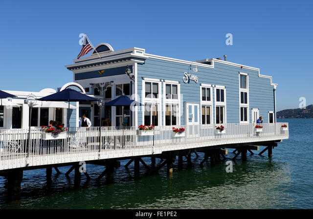 Scomau0027s Restaurant On Bridgeway, Sausalito, California, USA   Stock Image