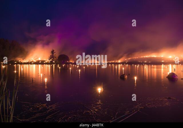Burning horizon - Leigo Lake Music Festival - Stock Image