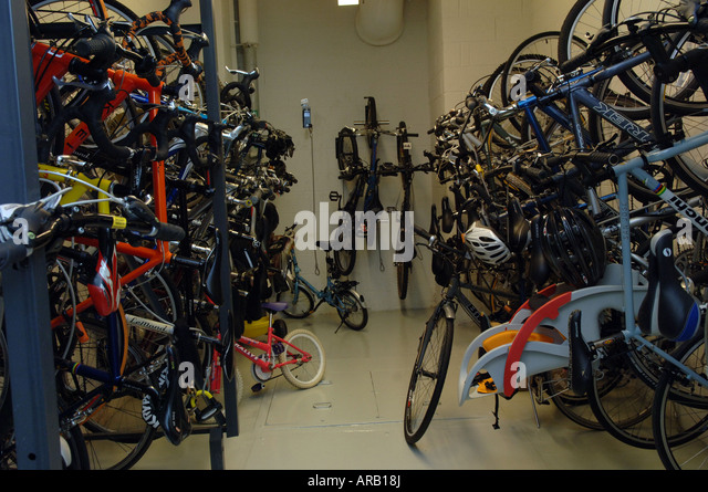 Marvelous Bicycle Storage Room Of The Solaire A Green Building In Battery Park City  In NYC