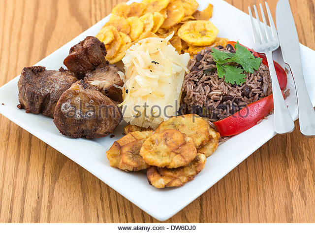 Plantains plate stock photos plantains plate stock for Authentic cuban cuisine