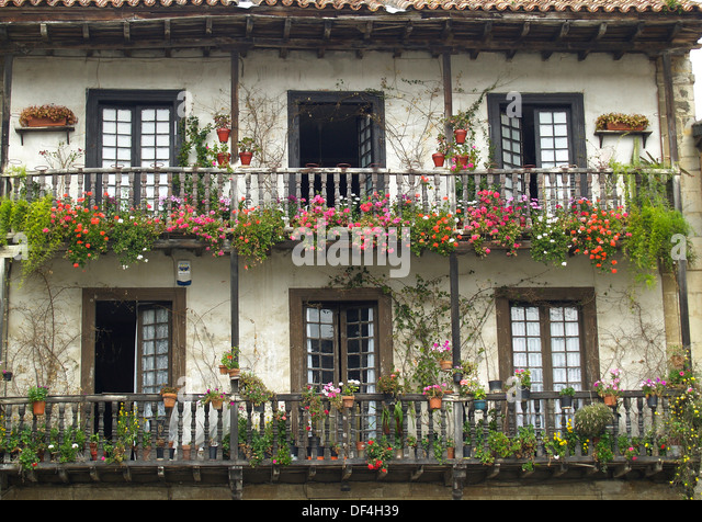 Spanish style house stock photos spanish style house for Balcony in spanish