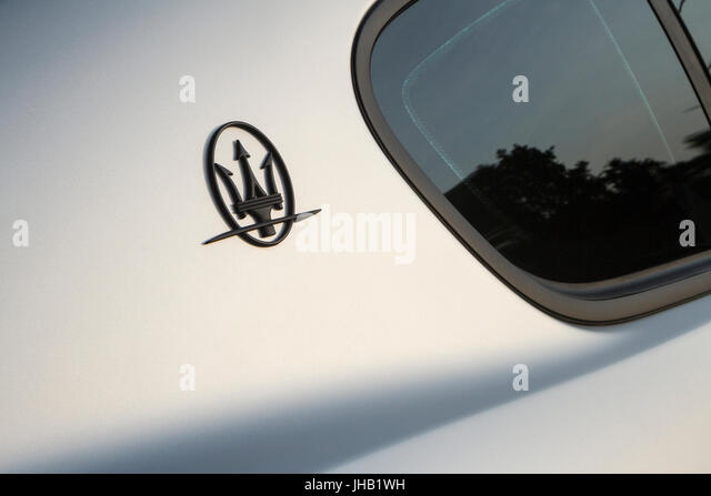 Detail Of Maserati Logo Supercar And Luxury Sports Car On