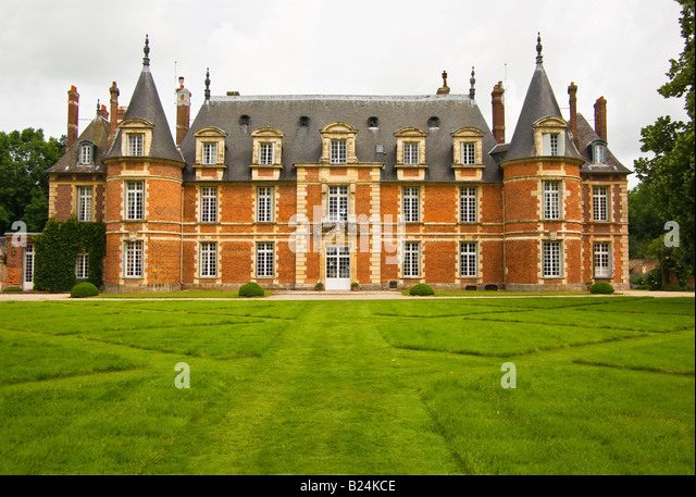 private chateau normandy france stock photos private. Black Bedroom Furniture Sets. Home Design Ideas