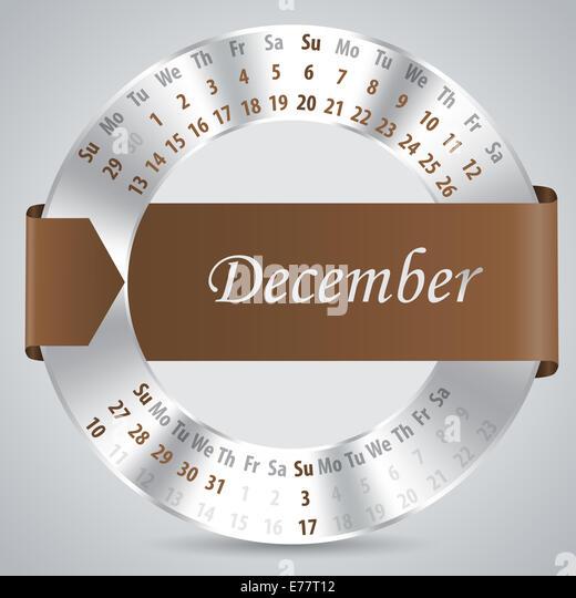 Calendar Ribbon Design : December calender stock photos