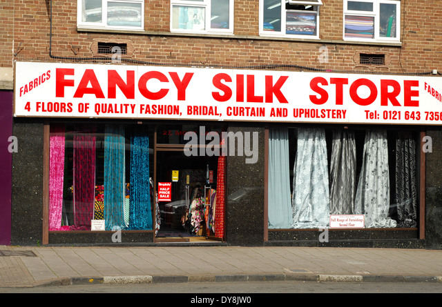 Silk Store Factory Birmingham Fashion Upholstery Bridal Curtain   Stock  Image