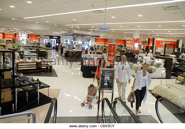 Miami Florida Aventura Macys Department Stock Photos