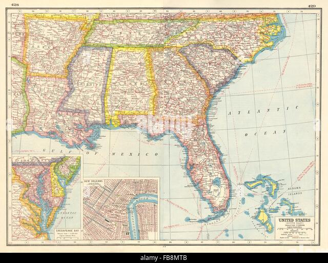 New Orleans Map Stock Photos New Orleans Map Stock Images Alamy - New orleans usa map
