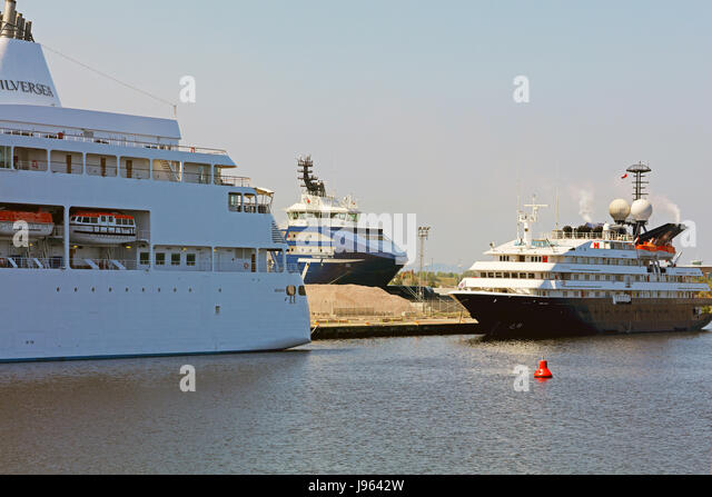 Two Liners at leith docks.Edinburgh - Stock Image