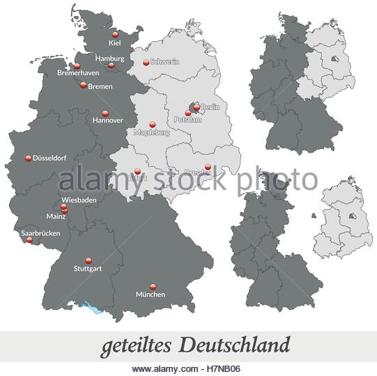 West Germany Map Photos West Germany Map Images Alamy – Divided Germany Map