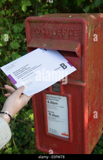 how to put postal vote
