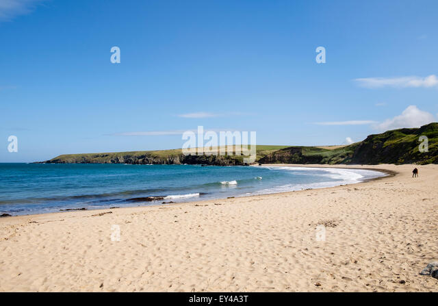 Quiet Sandy Beach Known As Whistling Sands On Lleyn Peninsula Pen Llyn At Porth Oer