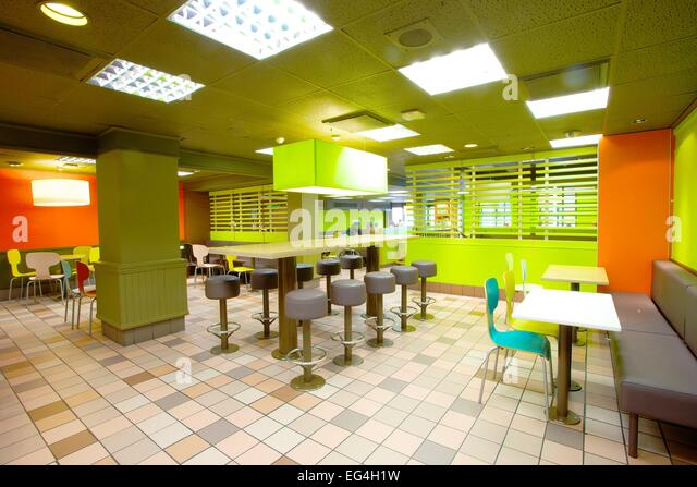 Mcdonalds Interior Design mcdonald's interior stock photos & mcdonald's interior stock