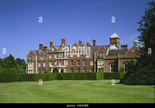 Grossbritanien South Narrow Country Norfolk Sandringham House With Park England Mansion