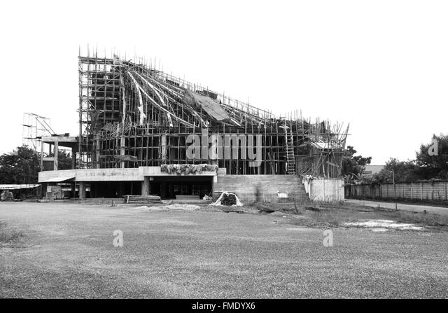 Black And White Building Construction : Timber formwork stock photos