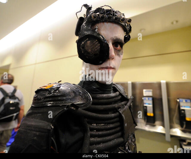 august 25 2012 toronto canada fan dresses up in a borg costume - Borg Halloween Costume