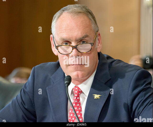 U S Secretary Interior Ryan Zinke Stock Photos U S Secretary Interior Ryan Zinke Stock Images