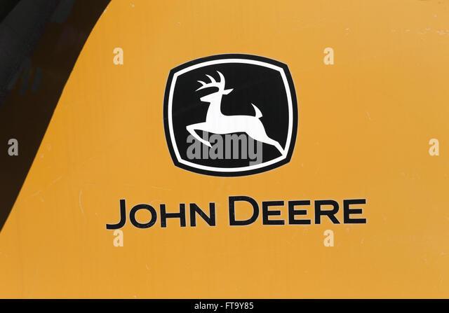 John Deere Logo On Side Of Bulldozer Ft Y