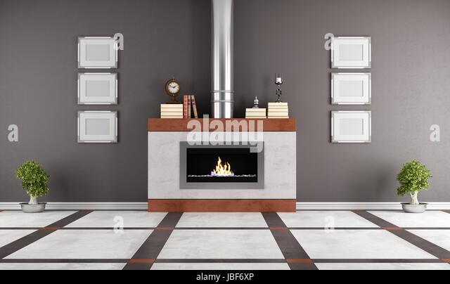 Gas Fireplace Stock Photos & Gas Fireplace Stock Images - Alamy