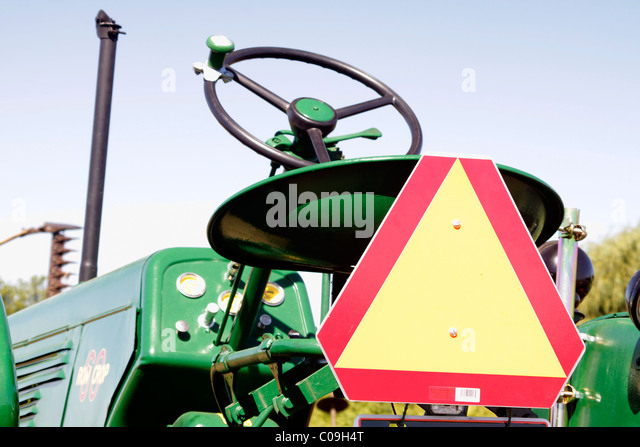 Big Slow Moving Tractor Sign : Slow moving vehicle stock photos