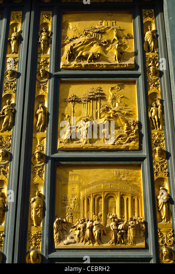 Detail of the Baptistery Doors at the Battistero di San Giovanni Florence - Stock Image & Florence Baptistery Doors Stock Photos \u0026 Florence Baptistery Doors ... Pezcame.Com