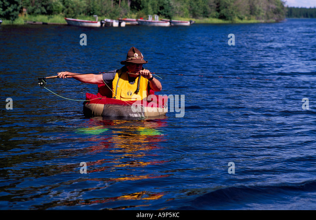 Hium stock photos hium stock images alamy for Belly boat fishing