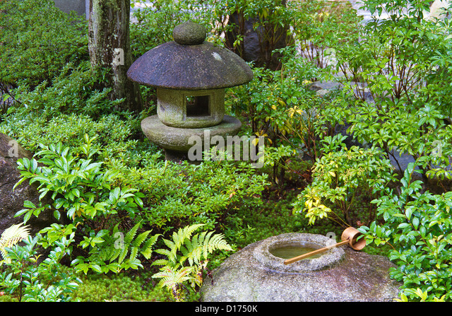 Traditional japanese garden stock photos traditional for Traditional japanese garden