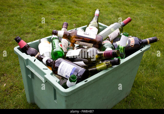 Clear glass bottles stock photos clear glass bottles for Empty wine crates