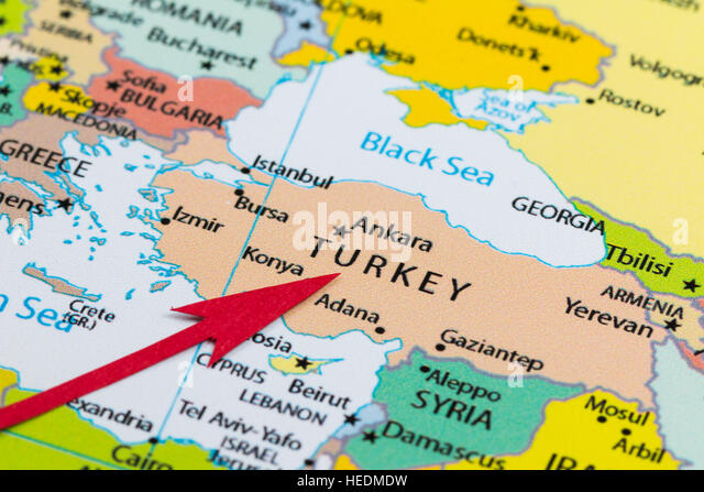 Turkey Country Map Photos Turkey Country Map Images – Turkey on a Map of Europe