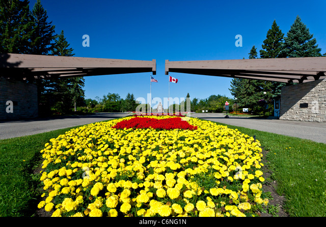 International Peace Garden North Dakota Stock Photos International Peace Garden North Dakota