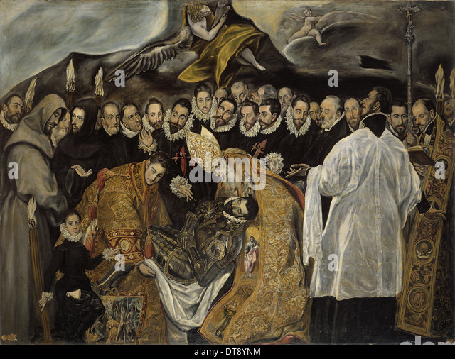 """an analysis of el grecos painting burial of count orgaz El greco (meaning """"the greek""""), born domenikos theotokopoulos, is widely  regarded as one of the foremost painters of the spanish renaissance his  paintings."""