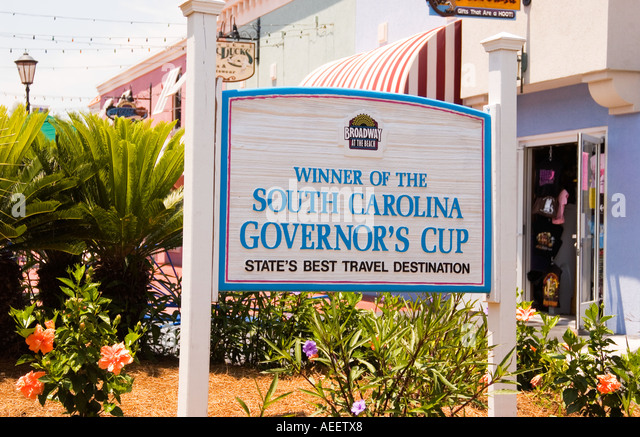 Governors Cup Sign Broadway At The Beach In Myrtle SC USA