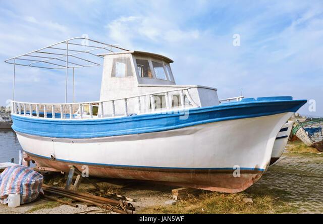 Pilot house motorboat stock photos pilot house motorboat for Pilot house fishing boats