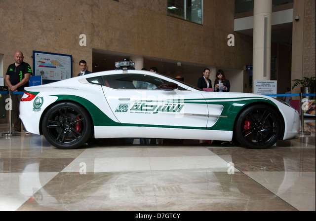 Dubai Police Aston Martin One77 Coupe Patrol Car Stock Image