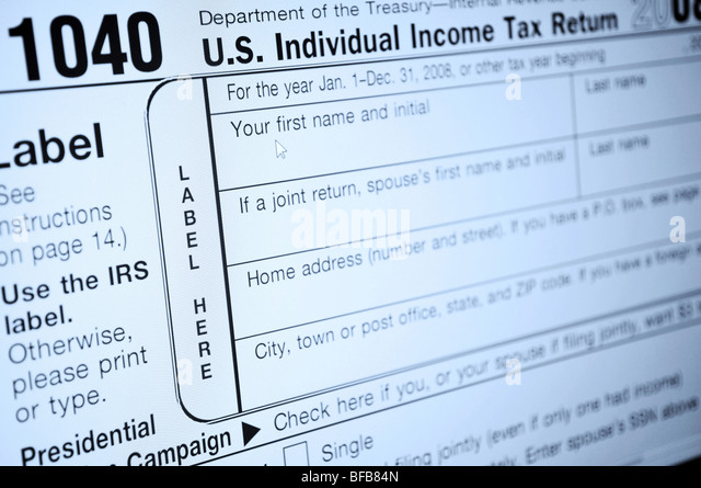 1040 Income Tax Form Stock Photos & 1040 Income Tax Form Stock ...