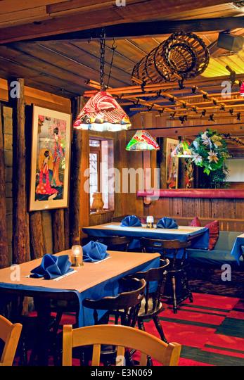 Japanese restaurant interior stock photos