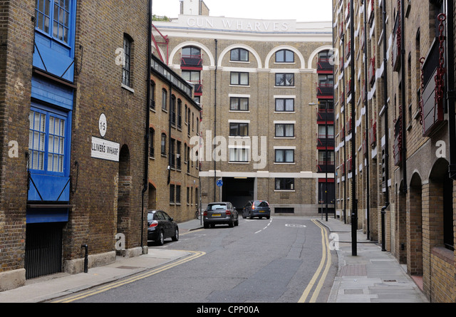 London Docklands Warehouses Converted Riverside Stock Photos