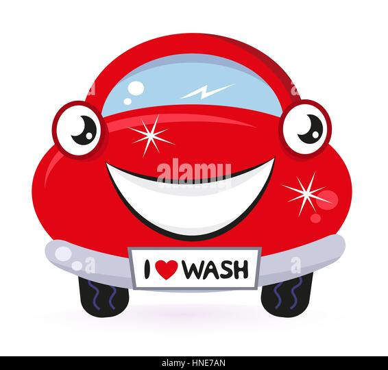 Auto Car Wash Mascot