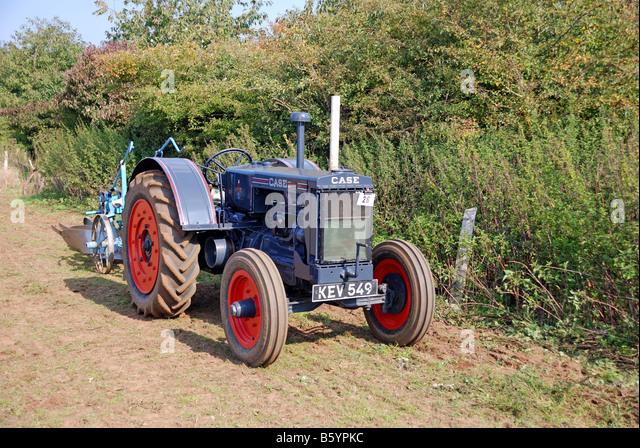 Case Model C : Vintage case tractor stock photos