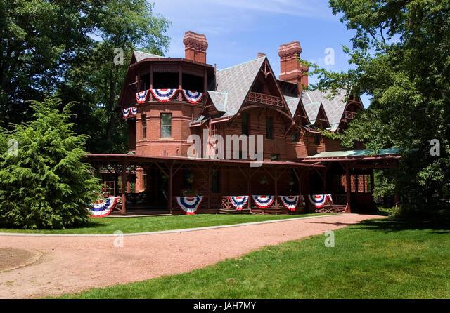 Mark twain house hartford connecticut stock photos mark for The hartford house