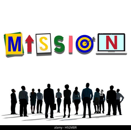 Mission Goals Target Aspirations Motivation Stock Photos & Mission ...