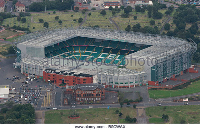 An Aerial Photograph Of Celtic Park Home Ground Football Club