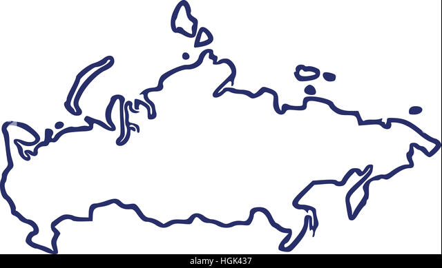 Russia Map Contour Stock Photos Russia Map Contour Stock Images