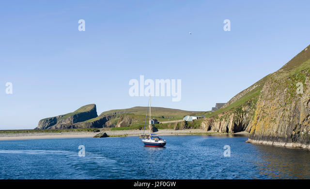 Fair Isle In Far North Scotland Stock Photos & Fair Isle In Far ...