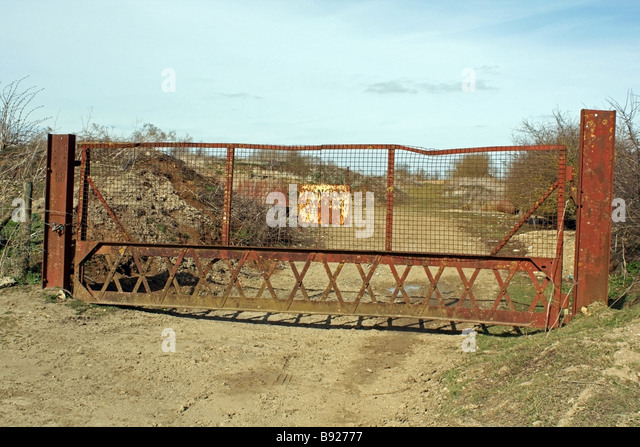 Rusted gates stock photos images alamy
