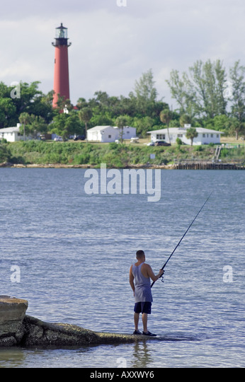 Jupiter lighthouse stock photos jupiter lighthouse stock for Jupiter inlet fishing