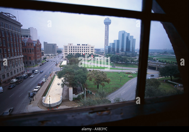 View Out Of A Window At JFK Assassination Spot, The Sixth Floor Museum,  Dallas