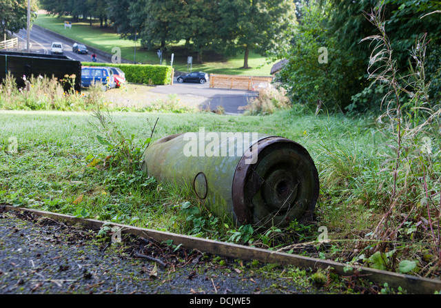 Unexploded World War 2 Bomb Stock Photos & Unexploded