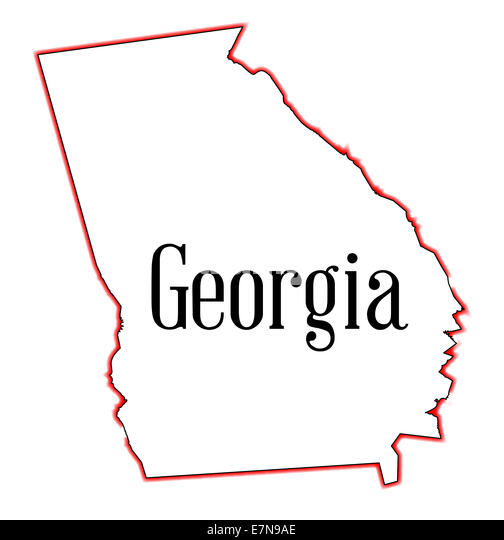 Outline State Georgia United America Stock Photos Outline State - State of georgia map outline